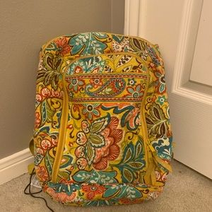Yellow floral Vera Bradley backpack